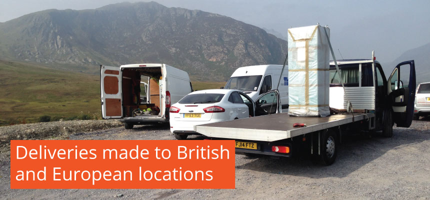 Deliveries made to British and European locations